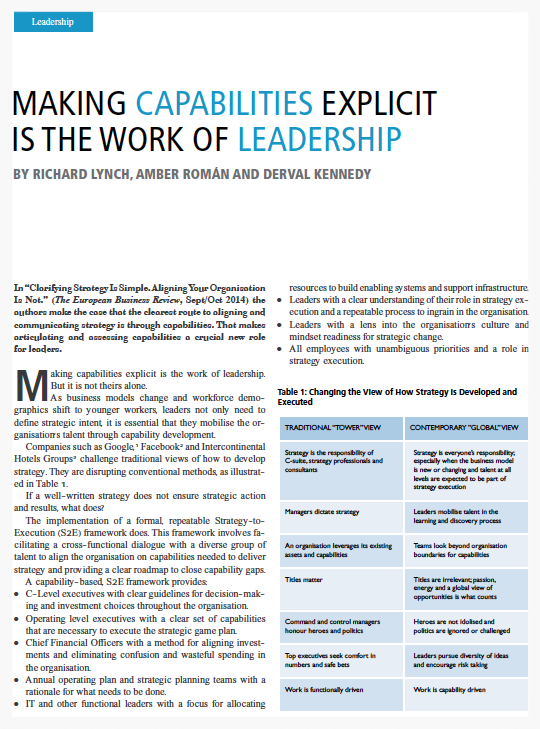 Download Accelare article, Making Capabilities Explicit is the Work of Leadership