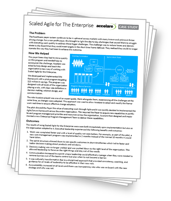 Scaled Agile for the Enterprise