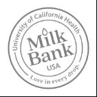 Milk Bank UCHMB bottle cap logo