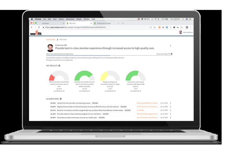 OKR Tracker on Workfit