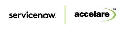 ServiceNow and Accelare Logo