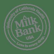 University of California Health Milk Bank Bottle Cap Logo