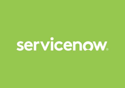 White ServiceNow Logo on Green