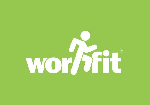 White Workfit Logo on Green