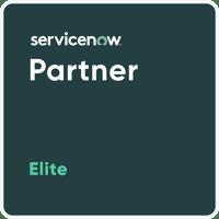 Green ServiceNow Elite Partner Badge