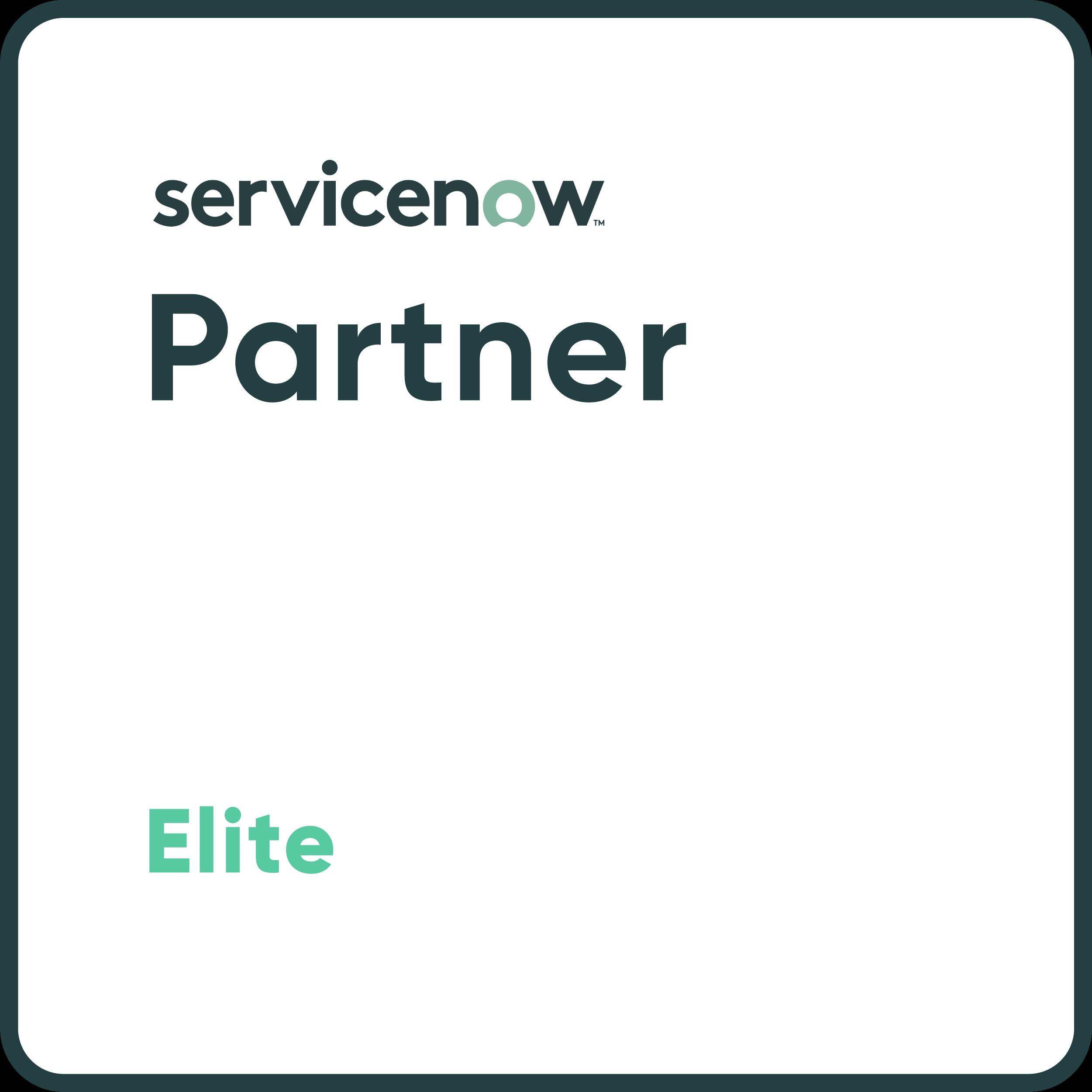 ServiceNow Elite Partner White